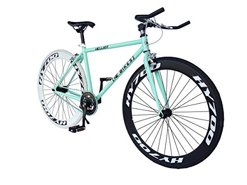 HELLIOT BIKES SINGLE SPEED DE CICLISMO PARA ADULTO BROOKLYN H41  VERDE  ONE SIZE  8419221173790