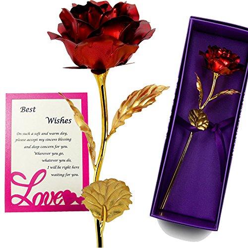 old Folie Rose - Beste Valentine 's Day Gifts - handgefertigt & Last Forever. Geschenk-Box und Geschenk Karte im lieferumfang enthalten Rot (Geschenk Karte Boxen)