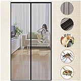 Fliegengitter Tür Insektenschutz MY CARBON Magnet Fliegenvorhang Dicht Schließen Kinderleichte Montage ohne Bohren Vorhang Sommer für Balkontür Schiebetür Wohnzimmer Kinderzimmer 90x210