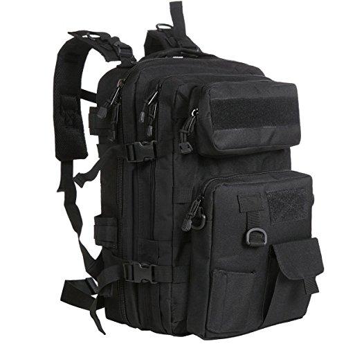 G4FREE 40L Tactical MOLLE Rucksack mit Abnehmbarer Tasche (Schwarz)