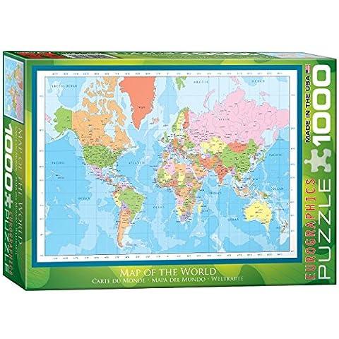 EuroGraphics Carte du Monde - Puzzle de 1000 Pièces