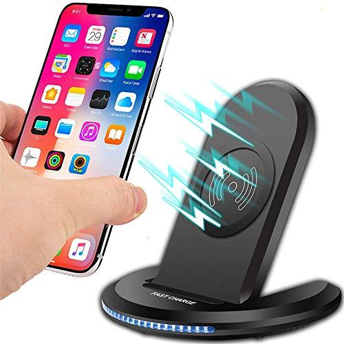 HAEEP Kabelloses Ladegerät Qi für iPhone X 8 XS MAX XR für Samsung Note 9 S9 S8 Plus Schnelles kabelloses Aufladen