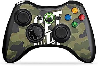 DeinDesign Microsoft Xbox 360 Controller Folie Skin Sticker aus Vinyl-Folie Aufkleber Montanablack Fanartikel Merchandise Fan Article Merchandise