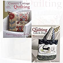 Country Cottage Quilting and It's Quilting Cats & Dogs 2 Books Bundle Collection with Gift Journal- 15 Quirky Quilt Projects Combining Stitchery with Patchwork