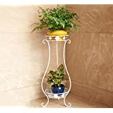 flores estantería Estantes para plantas escalera metálica macetas flores estantería, flores estantería ,estantería de soporte para plantas ( Color : 1 , Tamaño : 33*28*80CM )
