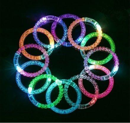 unte LED Leuchten Armbänder Leuchten Party Favors Dekorationen Blase Perlen Blink Armbänder Spielzeug für Geburtstagsfeier Nacht Spiele Fun Events (Mix Stil Farbe) ()