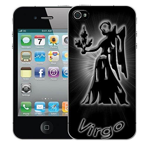 Mobile Case Mate iPhone 5 clip on Dur Coque couverture case cover Pare-chocs - blue hanging skull Motif black virgo
