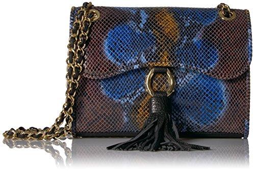 Aimee Kestenberg Damen Umhänge-Handtasche Lapis Snake Einheitsgröße -