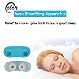 Generic White : Nose Breathing Apparatus Air Purifier Anti Snore Nasal Congestion Relieve Snoring Aid Apparatus Nose Clip Breathe Easy Tools