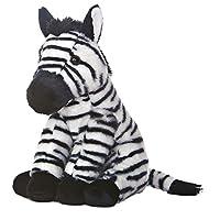 Aurora World Zebra Destination Nation Plush Toy (Black/White)