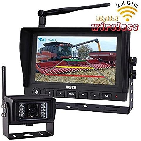Agenti atmosferici 7 pollici wireless digitale HD monitor con IR sistema di telecamere 2.4G recensioni Backup System Set, per RV rimorchio del camion Bus ralla postali Fire Trucks, DC10V- 32V