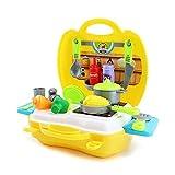 TIME4DEALS Spielzeug Küche Kinderküche Set (23 Stücke Zubehör) Küche Kochen Spielzeug Kleinkinder Rollenspiele Küchenspielzeug für Kinder