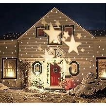 Bloomwin movimiento suave blanco estrella lámpara del proyector LED luz decoración boda fiesta navidad jardin al aire libre IP44 Alto Brillo