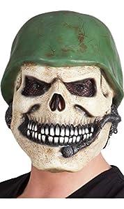 Boland BOL97513 - Máscara de látex, diseño de calavera militar