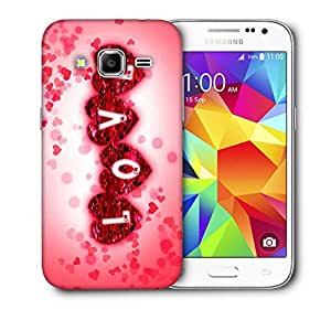 Snoogg Love Printed Protective Phone Back Case Cover For Samsung Galaxy CORE PRIME