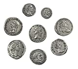 Monnaies impériales Romaines plaqué Argent - Set 8 Empereurs Rome Antique...
