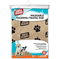 Simple Solution Large Washable Training and Travel Dog Pads - Pack of 2