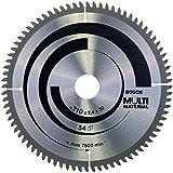 Bosch Zubehör 2608640445 Kreissägeblatt Multi Material 210 x 30 x 2,5 mm, 80