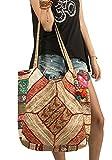 Tribe Azure Fair Trade Bolsos de hombro de algodón para mujer Talla única Oro Plata