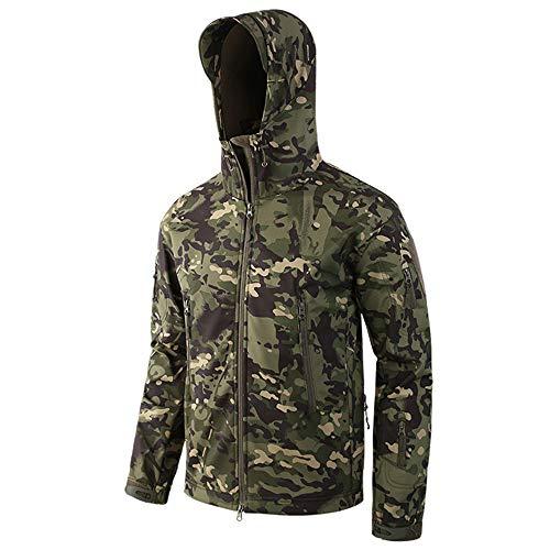 LiGG Herren Softshelljacke Camouflage Jagdjacke Wasserdicht Winddicht Military Funktionsjacke Winter Warm Innenfutter Regenjacke Skijacke -