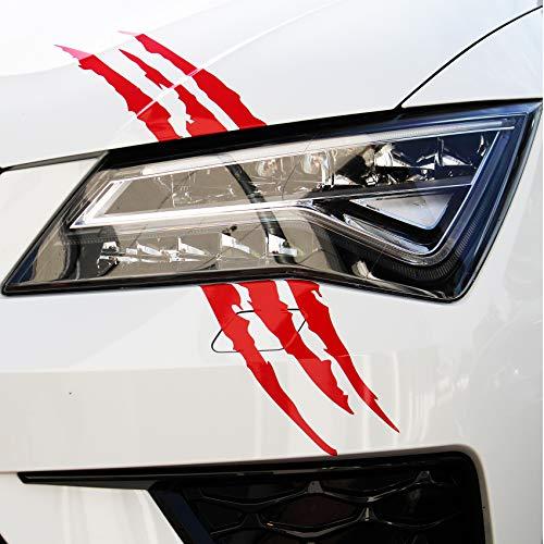 Finest Folia D061 Devil Cut Aufkleber Klauen Krallen Tiger Auto LKW Dekor Sticker (306 Karminrot)