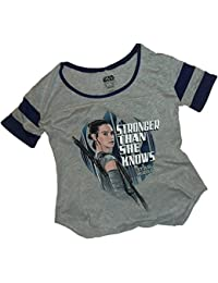 "Star Wars Ep VII: The Force Awakens -- Rey ""Stronger"" Womens Jersey T-Shirt"