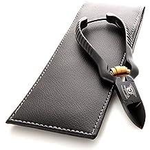 CANDURE® negro profesional del clavo Clippers Pinzas para uñas gruesas, 13,97cm Hoja curva para todo tipo de uñas (negro y oro)
