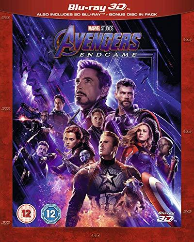 Avengers: Endgame 3D Includes Bonus Disk [Blu-ray] [2019] [Region Free]