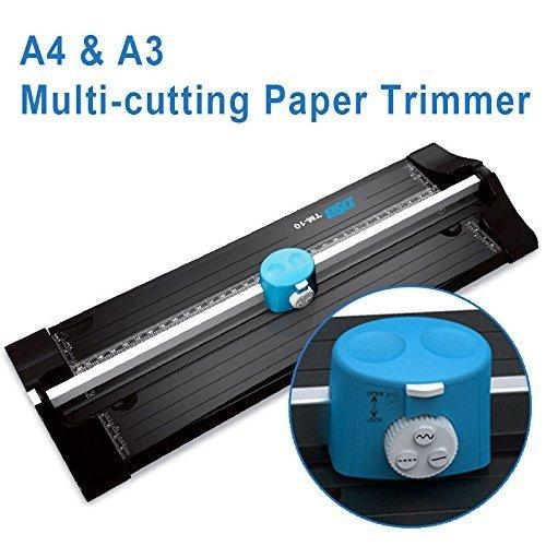 HOOMYA™ A3 A4 Rollenschneider, Papierschneider, Foto Schneidegerät mit gerade Perforation und Welle 3 Schnitt Stilen –Eine zusätzliche Schneidematte