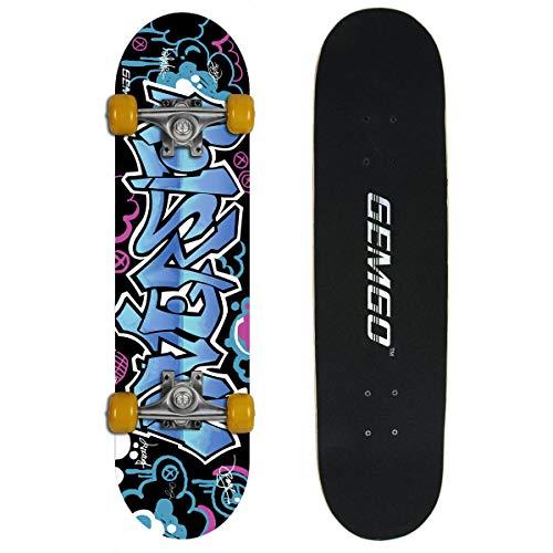 Gemgo WIN.MAX 001 Klassik Skateboard Skate Board Komplettboard Deck Funboard Holzboard ABEC-7