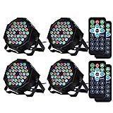 Litake Disco Lights, 4 Pack 36 LEDs Strobe Lights 7 Lighting Modes DJ