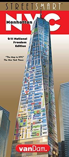 StreetSmart NYC Stadtkarte von VanDam, Laminierte Stadtkarte, Manhattan mit allen Attraktionen, Museen, Theatern, 3D Gebäuden & U-Bahn 2018 -