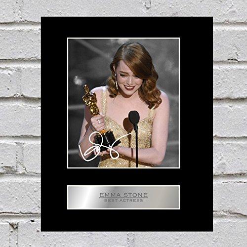 Emma Stone, con autografo Best Actress