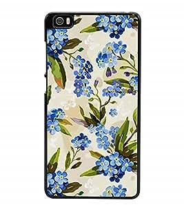 Fuson Designer Back Case Cover for Xiaomi Redmi Mi 5 :: Redmi Mi 5 (Purple Flowers Floral Bouquet Branches Flower Twigs)