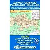 Alpago, Cansiglio Piancavallo, Val Cellina: Wanderkarte Tabacco 012. 1:25000 (Cartes Topograh)