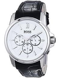 Hugo Boss 1513033 - Reloj de pulsera hombre, piel, color negro