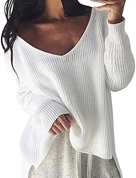 Mujeres Jerséis De Punto Suéter Otoño Invierno Asimetricas Jerseys Sencillos Especial Pullover Anchas Manga Larga...