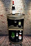 Livitat® Regal Beistelltisch Rostig Ölfass Tonne H80cm Industrie Look Loft Vintage LV5055