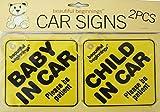 Child/Baby in car-(Kind im Auto)-Autoaufkleber