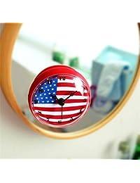 45e37072b46b Reloj de Pared 3D Creativa bandera americana Bell baño   nevera   cocina    impermeable