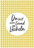 Postkarte A6 +++ LUSTIG von modern times +++ DU BIST MEIN GRUND ZU LÄCHELN +++ MODERN TIMES © DSA