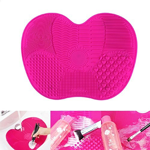Himolla Kosmetikpinsel Reiniger Make Up Pinsel Reinigungsmatte Reinigung Reiniger Silikon / Pinselreiniger Brush Cleaner / Pinsel Matte Kosmetik, Rose