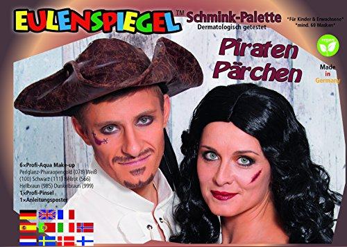 Eulenspiegel Piraten Pärchen Schminkpalette