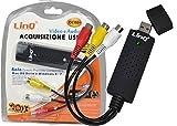 SCHEDA USB PC ACQUISIZIONE AUDIO VIDEO 1 CANALE CH RCA PER MAC OSX WIN 8 CAP DC8 - Linq - amazon.it