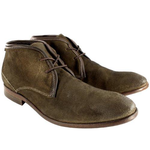 Herren H By Hudson Cruise Wildleder Schnüren Schuhs Smart Knöchel Stiefel Braun