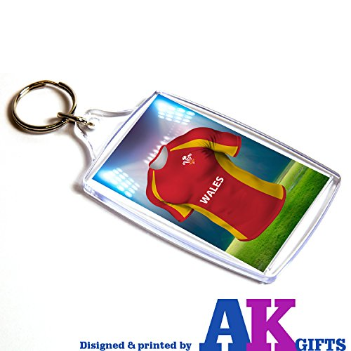 Preisvergleich Produktbild Wales Rugby-Shirt – doppelseitig Schlüsselanhänger