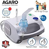 Agaro Prime Compressor Nebulizer NB-23 with Adult and Child Mask (White)