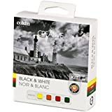 Cokin P Series H400-03 Black and White Filter Kit Includes Yellow 0.2 Filter Orange 0.2 Filter Red 1.0 Filter Green 0.8 Filter