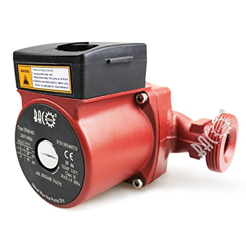 BACOENG Umwälzpumpe Heizungspumpe 180mm Zirkulationspumpe für Zentralheizung 220V/ 50 Hz