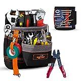 Werkzeuggürtel Werkzeugtasche Werkzeugbeutel Für Werkzeugen aus 600D Oxford Cloth mit Magnetisches Armband Magnetarmband...